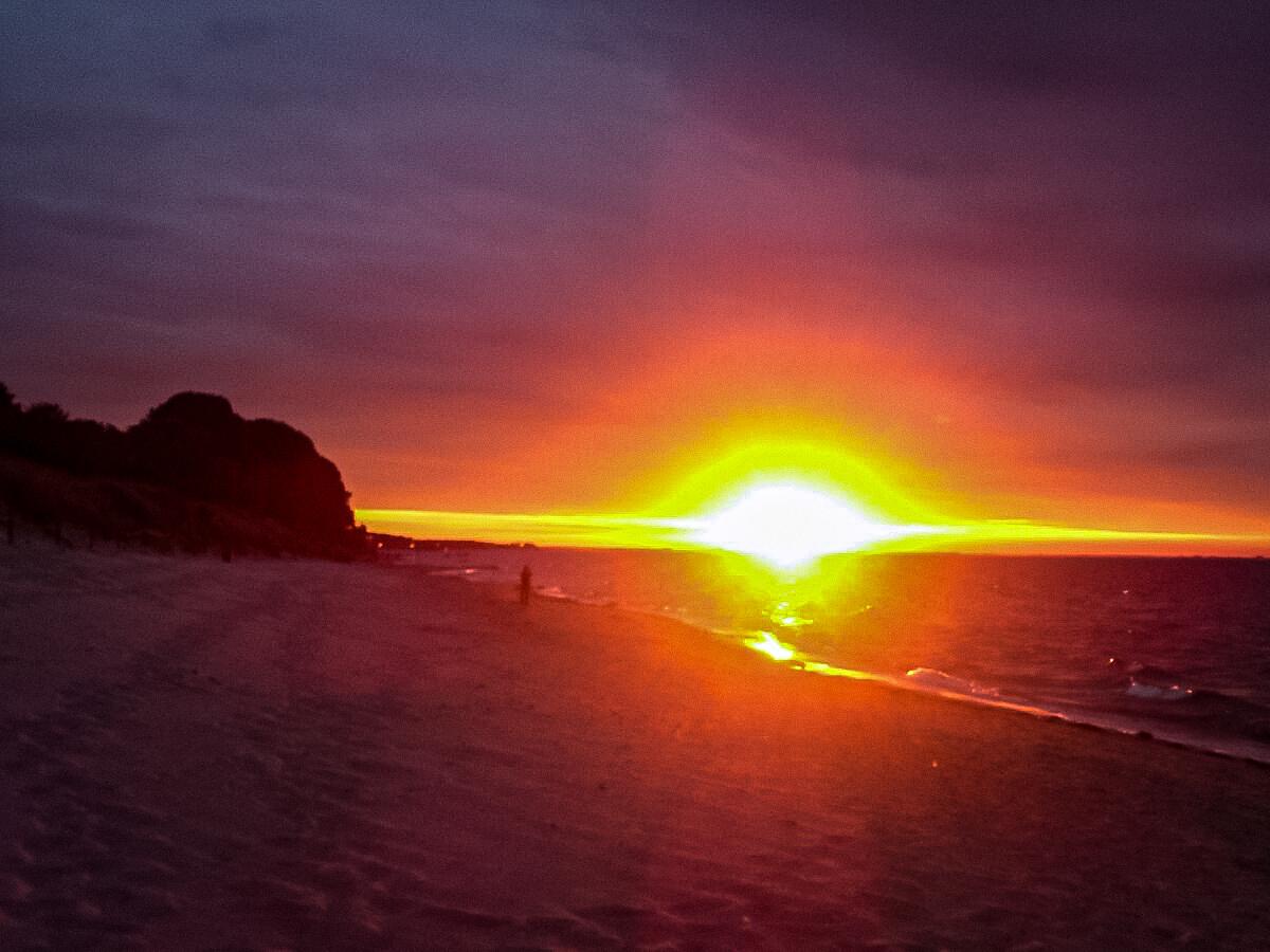 Sonnenuntergang am Strand Lubmin
